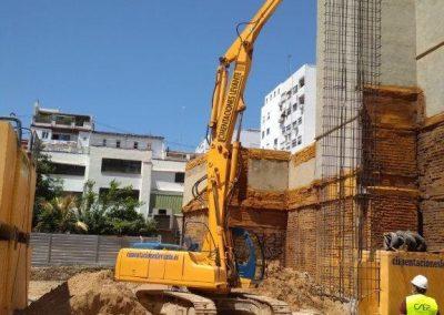 La obra del edificio cooperativo Lotus Ruzafa continúa en su segundo mes de ejecución